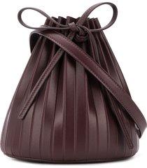 mansur gavriel pleated bucket bag - purple