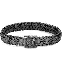 'classic chain' sapphire rhodium silver bracelet