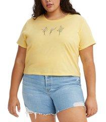 levi's trendy plus size cotton floral graphic surf t-shirt