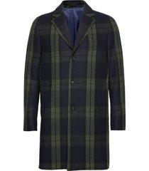 d1. the checked coat wollen jas lange jas groen gant