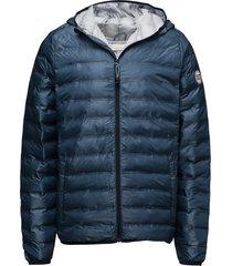 polyester jacket w/polyester fillin gevoerd jack blauw knowledge cotton apparel