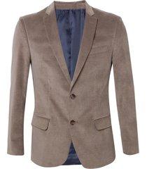 blazer dudalina veludo masculino (bege medio, 58)
