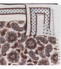 altea lightweight paisley-print scarf - neutrals