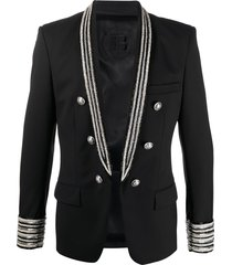 balmain beaded blazer - black