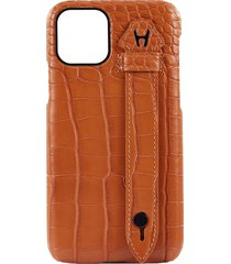 iphone 11 pro 'alligator finger' leather case