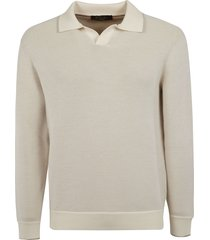 loro piana ribbed collared sweater