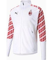 ac milan away stadium voetbaljack voor heren, wit/rood, maat l | puma