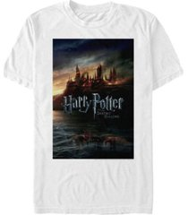 fifth sun harry potter men's hogwarts deathly hallows poster short sleeve t-shirt