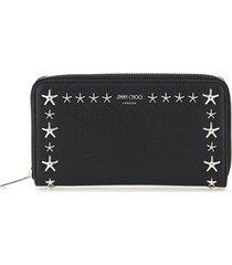jimmy choo zip around star studs wallet