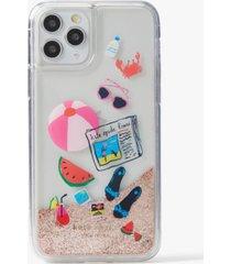 kate spade new york pool party liquid glitter phone 11 pro case