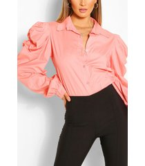 cotton extreme sleeve shirt, peach