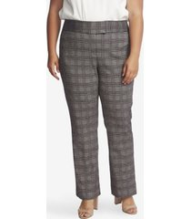 cece women's plus boot leg plaid pants