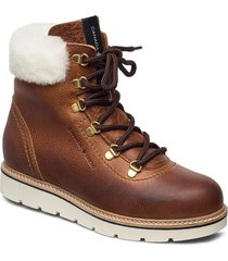 aspen lace up fur shoes boots ankle boots ankle boot - flat brun canada snow
