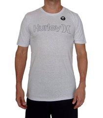 camiseta hurley oao drifit para hombre - plateado