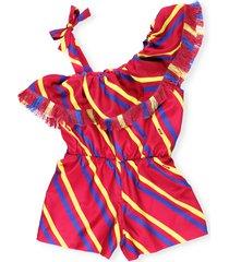 msgm crepe striped dress