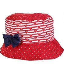 chapéu infantil pimpolho poá com laço de 2 à 4 anos