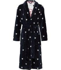 towelling robe stars morgonrock blå tommy hilfiger