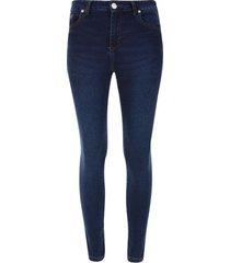 jean mujer skinny indigo color azul, talla 14