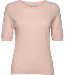 t-shirt over d t-shirts & tops knitted t-shirts/tops roze davida cashmere