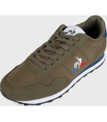 tenis lifestyle verde oliva-azul-blanco le coq sportif astra sport