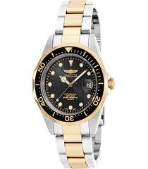 reloj invicta acero dorado modelo 170kn para hombres, colección pro diver