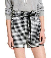 rag & bone women's camille gingham shorts - black white gingham - size 0