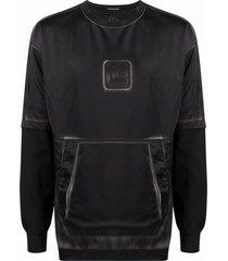 c.p. company distressed tie-dye print sweatshirt - black