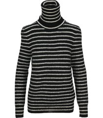 saint laurent high neck striped sweater