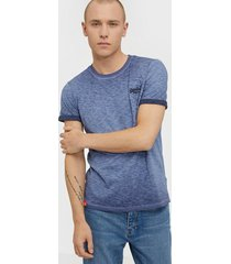 superdry ol low roller tee t-shirts & linnen navy