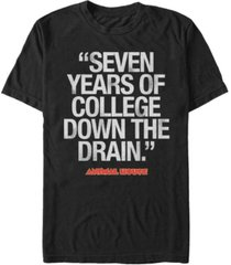 animal house national lampoon's men's bluto 7 years of college short sleeve t-shirt