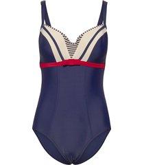 md starboard plunge balc. swimsuit baddräkt badkläder blå marlies dekkers
