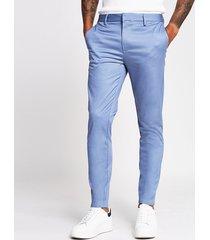 river island mens blue skinny fit chino pants