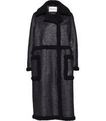adriana coat lange leren jas lange jas zwart stand studio