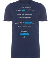 camiseta masculina fine pray classic - azul
