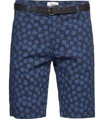aop chino shorts shorts chinos shorts blå lindbergh