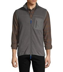 full-zip fleece vest