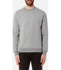 emporio armani men's small logo sweatshirt - grigio melange - xxl - grey