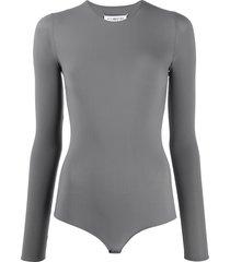 maison margiela long-sleeve bodysuit - grey