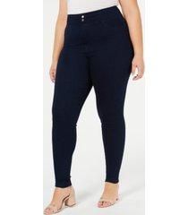 hue plus size original smooth denim leggings, created for macy's