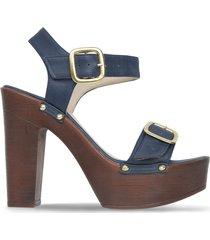 sandalias  mujer bata brooke azul