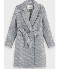 scotch & soda belted wrap coat