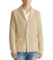 chaleco cotton shawl-collar beige polo ralph lauren