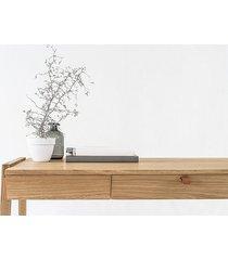 biurko drewniane stolik z litego dębu z szufladą