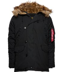 explorer w/o patches parka jas zwart alpha industries