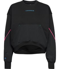 blocked alt terrain crew black sweat-shirt tröja svart converse