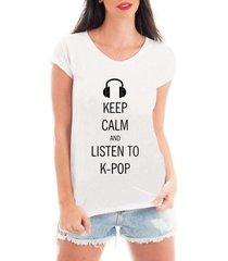 blusa criativa urbana keep calm kpop musicas t shirt