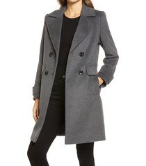 women's sam edelman double breasted coat, size 16regular - grey