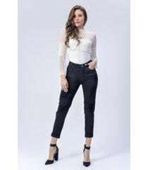 pantalón jeans dama negro di bello jeans  classic boyfriend ref j109