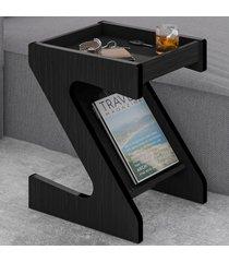 mesa de canto zeus com nicho preto - artely