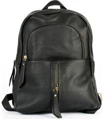 mochila cierre vertical negro mailea